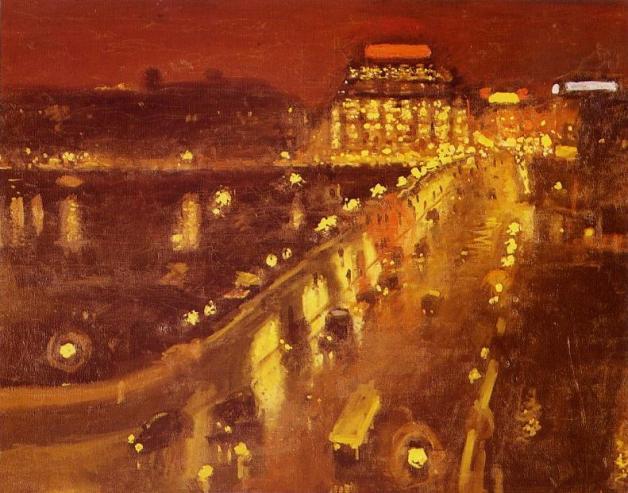 """Albert Marquet~ """"Le Pont-Neuf la nuit"""