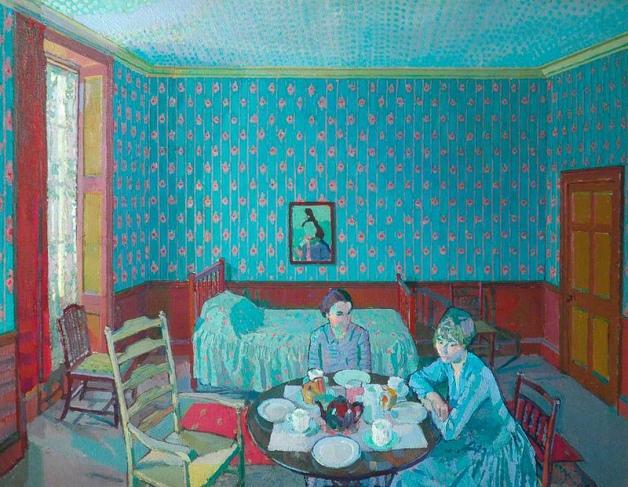 Harold Gilman - Tea in the Bedsitter