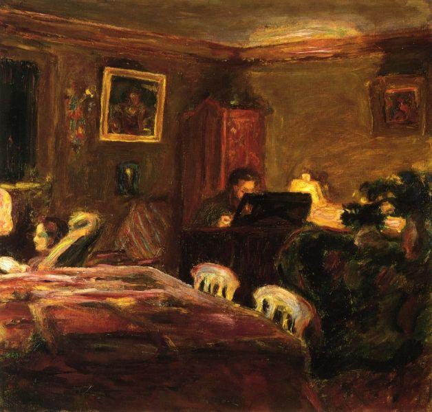 Interior - Claude Terrasse at the Piano, 1907