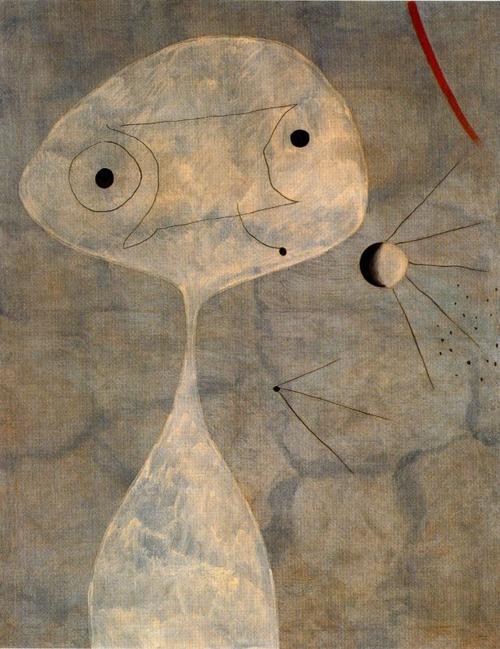 Joan Miró Hombre con pipa.