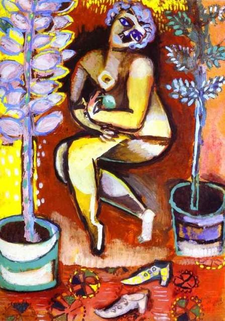 Marc Chagall- Nu aux fleurs