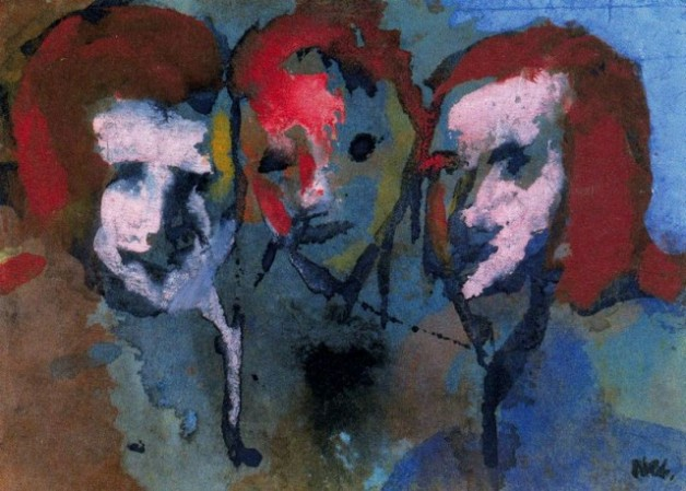 Emil Nolde - Theree Heads